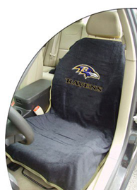 1997-2005 Buick Park_Avenue Seat Armour NFL Towel Seat Cover - Baltimore Ravens