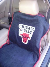 1997-2005 Buick Park_Avenue Seat Armour NBA Towel Seat Cover - Chicago Bulls