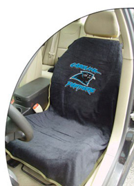 1997-2005 Buick Park_Avenue Seat Armour NFL Towel Seat Cover - Carolina Panthers