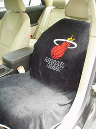 1999-2006 GMC Sierra Seat Armour NBA Towel Seat Cover - Miami Heat