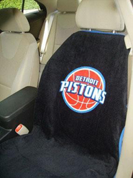 1997-2005 Buick Park_Avenue Seat Armour NBA Towel Seat Cover - Detroit Pistons