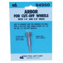 "1998-9999 Ford Contour SG Tool Aid Arbor for Cut-Off Wheels With 1/4"" and 3/8"" Center Holes"