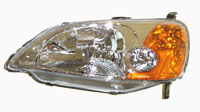 2001-2003 Honda Civic Sherman Left Hand Headlights