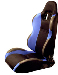 2004-2005 Honda Civic Silk Racing Seats - Both Sides (Blue)