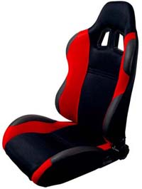 2004-2005 Honda Civic Silk Racing Seats - Both Sides (Red)