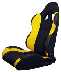 1995-1999 Nissan Maxima Silk Racing Seats - Both Sides (Yellow)
