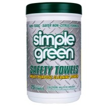 1966-1970 Ford Falcon Simple Green industrial Safety Towels® - 75 Count