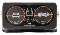 1967-1968 Mercury Brougham Smittybilt 2 Dial Illuminated Clinometer with Jeep Graphic
