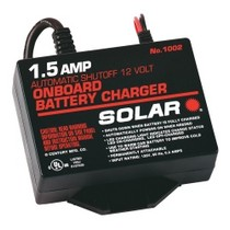2008-9999 Pontiac G8 SOLAR 1.5 Amp 12 Volt Automatic On-Board Charger