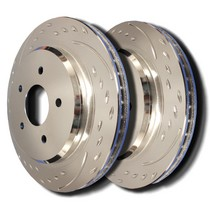 1998-2003 Toyota Sienna SP Performance Brake Rotors - Diamond Slot Plated (Front)