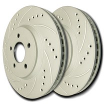 2001-2006 Dodge Stratus SP Performance Brake Rotors - Drilled & Slotted ZRC (Rear)