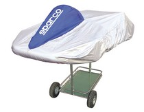 1978-1990 Plymouth Horizon Sparco Kart Cover (Silver / Blue)