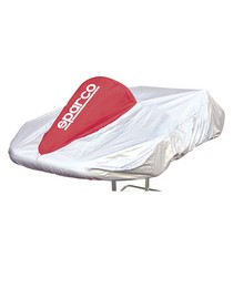 1984-1986 Ford Mustang Sparco Kart Cover (Silver / Red)
