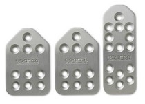 2007-9999 Honda Fit Sparco Piuma Pedal Set - Automatic Long (Silver)