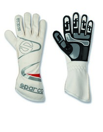All ATVs (Universal), All Cars (Universal), All Jeeps (Universal), All Muscle Cars (Universal), All SUVs (Universal), All Trucks (Universal), All Vans (Universal) Sparco Arrow Kart Gloves - 07 (White)