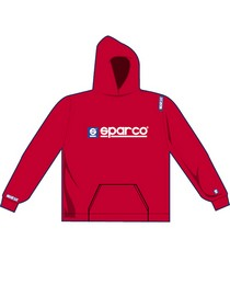 1963-1967 Chevrolet Corvette Sparco WWW Hooded Sweatshirt - Large (Red)