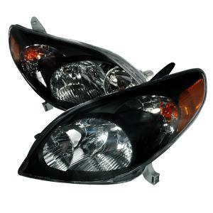 03 08 Toyota Matrix Crystal Housing Headlights Black Spec D Euro