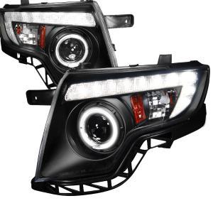 Ford Edge Projector Headlight Black Housing Spec D Projector Headlights Black