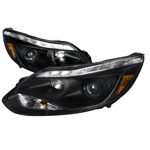 Clear Glass H4 Headlight Black Smoke Set For Ford Focus 98-01 MK1