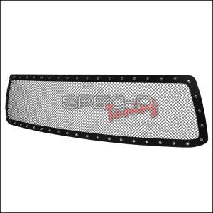 For 2010-2013 Toyota Tundra Rivet Mesh Style Textured Upper Hood Grille Insert