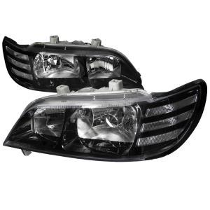 97 99 ACURA CL EURO HEADLIGHTS BLACK HOUSING Spec D Euro Headlights Black