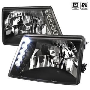 98 00 Ford Ranger Crystal Housing Headlights Black Spec D Euro