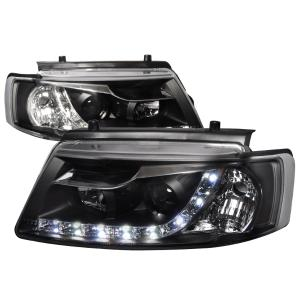 97 00 Volkswagen Pat R8 Style Projector Headlight Black Housing Spec D