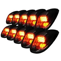 All Vehicles (Universal) Spec D Roof Cab LED Light - Smoke Lens (10-Piece)