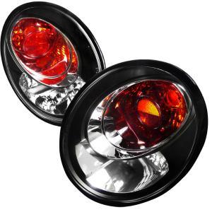 98 05 Volkswagen Beetle Euro Tailights Black Housing Spec D Tail Lights Color