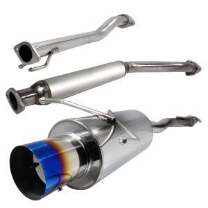 "N1 Style 4/"" Burn Tip Stainless Steel Muffler 2.5/"" Inlet W// Silencer HONDA ACURA"