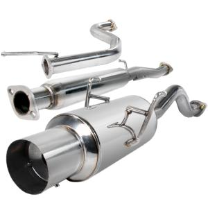 For Acura Integra Stainless Steel Catback Exhaust System 4.5 inches Muffler DA DB Burnt Muffler Tip