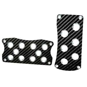1974-1976 Mercury Cougar Spec D Universal Carbon Fiber Pedal Sets - Automatic (Black)