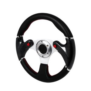 All Jeeps (Universal), All Vehicles (Universal) Spec D F16 Carbon Steering Wheel - 320mm (Black with Red Stitching)