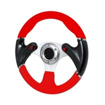 All Jeeps (Universal), All Vehicles (Universal) Spec D F16 Carbon Steering Wheel - 320mm (Black/Red)