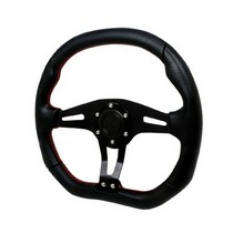 All Jeeps (Universal), All Vehicles (Universal) Spec D Technic Steering Wheel - 350mm (All Black with Red Stitching)