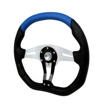 All Jeeps (Universal), All Vehicles (Universal) Spec D Technic Steering Wheel - 350mm (Black/Blue)