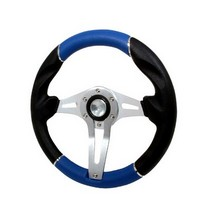 All Jeeps (Universal), All Vehicles (Universal) Spec D Technic 3 Steering Wheel - 320mm (Black/Blue)