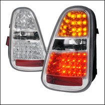 2002-2006 Mini Cooper Spec D LED Tail Lights - Chrome