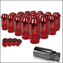 1996-1999 Ford Taurus Spec D Lug Nut Set: 12 X 1.5 - Red (21-Piece)