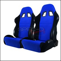 All Classic Muscle Cars (Universal), All Classic Volkswagens (Universal), All Full Size Trucks (Universal), All Jeeps (Universal), All Light Trucks (Universal), All Modern Muscle Cars (Universal), All Sports Compact Cars (Universal), All SUVs (Universal), All Vintage Cars (Universal) Spec D Bride Style Racing Seats - Blue/Black