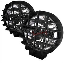 "2005-9999 Toyota Tacoma Spec D 2-Piece Round Work Lamps - 6.5"" with Super 4X4 Mesh Guard - Black"
