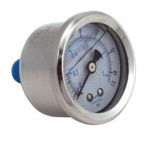 1998-2002 Isuzu Trooper Spectre Fuel Pressure Gauge - Oil Filled - Chrome (0-15 PSI)