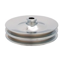 Up-84 GMC Spectre Power Steering Pulley - Double Groove - Chrome