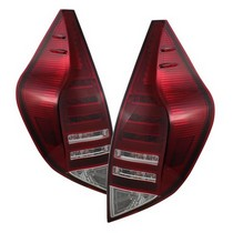 12-14 Toyota Prius C Spyder LED Tail Lights, Red Clear