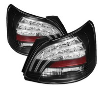 07-09 Toyota Yaris 4Dr Spyder LED Tail Lights (Black)