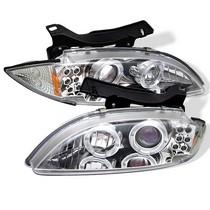 95-99 Chevy Cavalier Spyder Halo Projector Headlights - Chrome