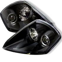 00-05 Mitsubishi Eclipse Spyder Halo Projector Headlights - Black