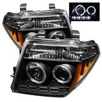 05 07 Nissan Pathfinder 08 Frontier Spyder Halo LED Projector Headlights