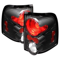 2002-2005 Mercury Mountaineer Spyder Altezza Tail Lights - Black