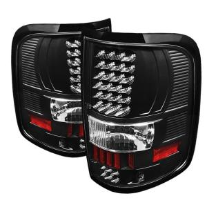 2004-2008 Ford F150 Spyder LED Tail Lights - Black